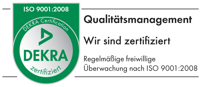 Zertifikat DEKRA Qualitaetsmanagement